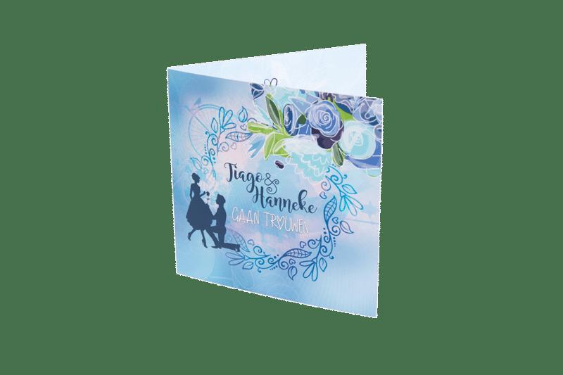 Tiago en Hanneke_trouwkaart_voorzijde